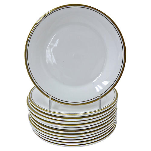 Royal Doulton Gilded Edge Plates, S/12