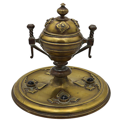 Antique Arts & Crafts Inkwell