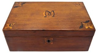 Antique English Inlaid Storage Box - Decorative Boxes - Trays u0026 Boxes - Home Accents - Decor u0026 Entertaining | One Kings Lane  sc 1 st  One Kings Lane & Antique English Inlaid Storage Box - Decorative Boxes - Trays ...