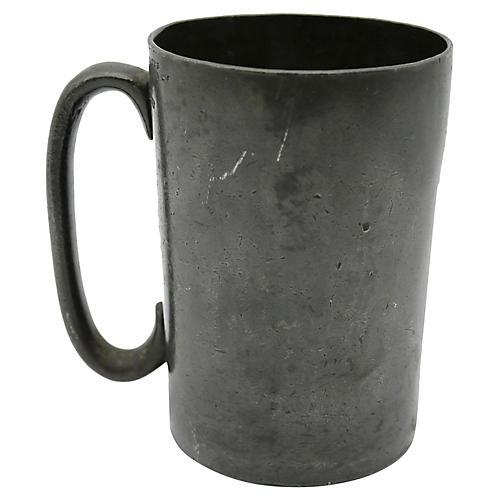 Antique Pewter Pint Tavern Mug