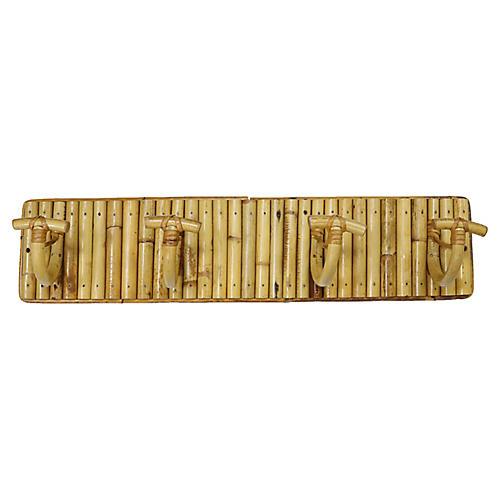 Mid-Century French Bamboo Coat Rack