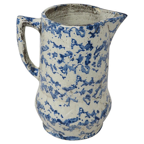 Antique American Stoneware Pitcher