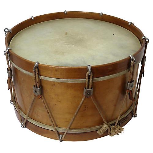 Large Antique Wood Snare Drum