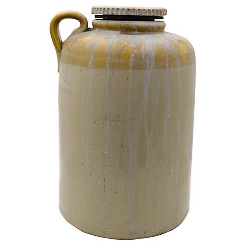 Antique 2 Gallon Pickle Brining Crock