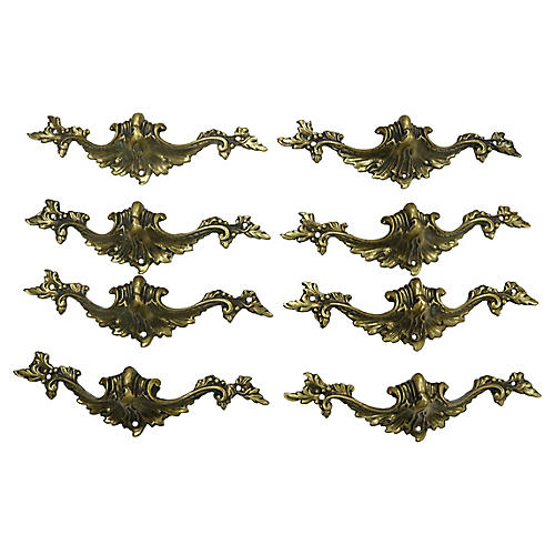 French Bronze Drawer Pulls, S/8