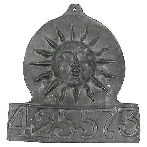 Anique French Pewter Insurance Marker