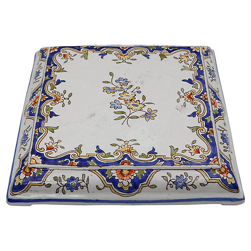 Antique French Faience Trivet