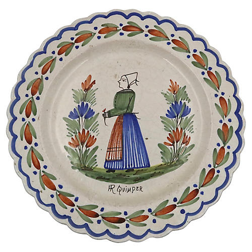 French Quimper Serving Charger