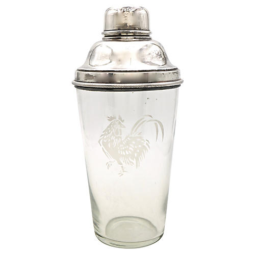 English Rooster Cocktail Shaker