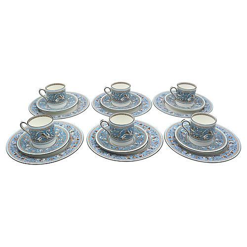 Wedgwood Florentine Espresso set, 18 Pcs