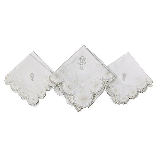 French Tea Napkins & Tablecloth, 7 Pcs