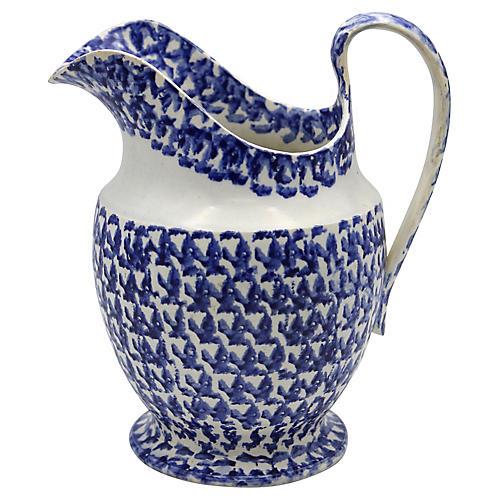 1820's English Spongeware Water Pitcher