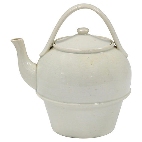 Antique English Creamware Teapot