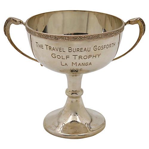English Silver-Plate Golf Trophy