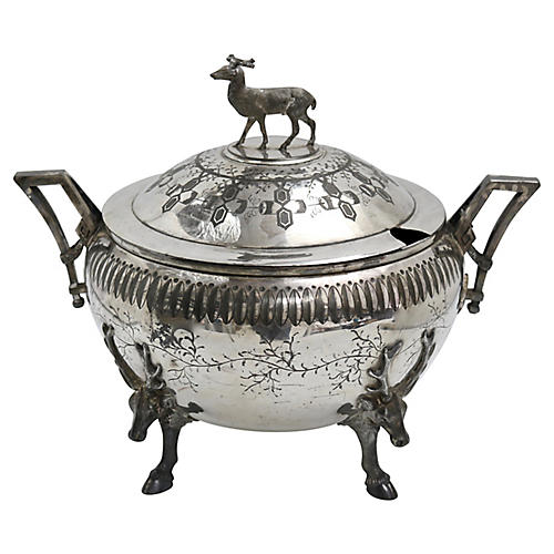 Arts & Crafts Hunting Lodge Deer Tureen