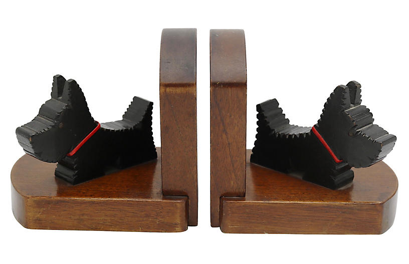 Mid-Century Scotty Dog Bookends