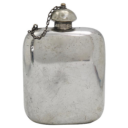 English Sheffield Silver-Plate Flask