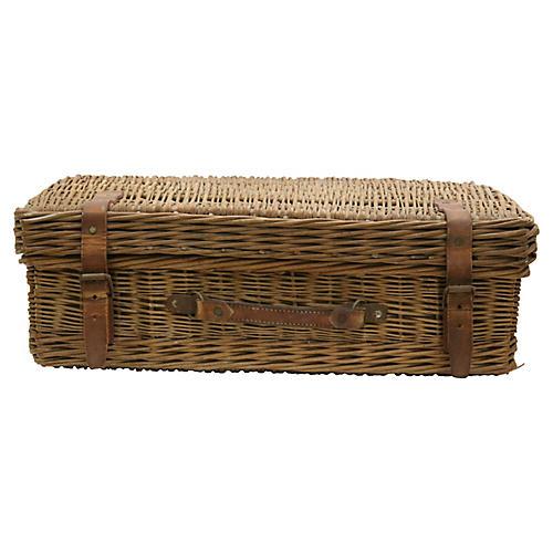 Midcentury English Picnic Basket