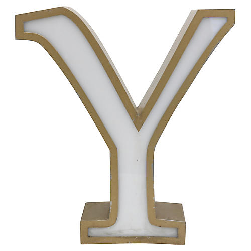 Freestanding Marquee Letter Y