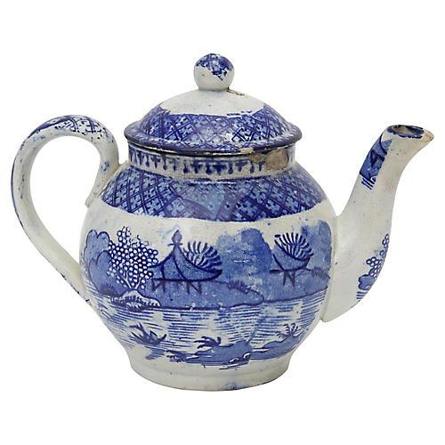 English Child's Willow Teapot - C.1820