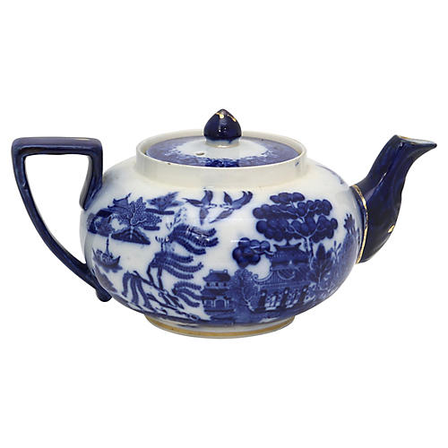 Antique Doulton Willow Teapot