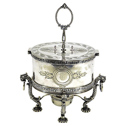 Antique Sheffield Silverplate Egg Warmer