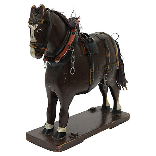 Antique Folk Art French Horse