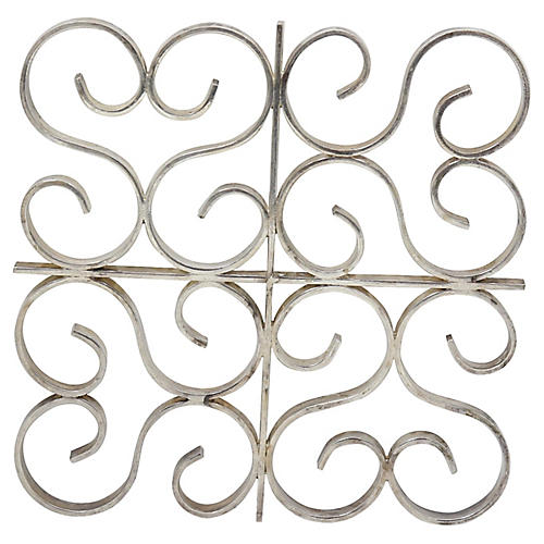 French Christofle Silver-Plate Trivet