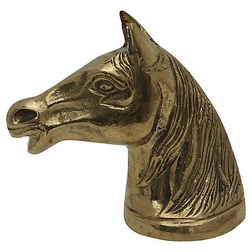 Brass Horses Head Bottle Opener