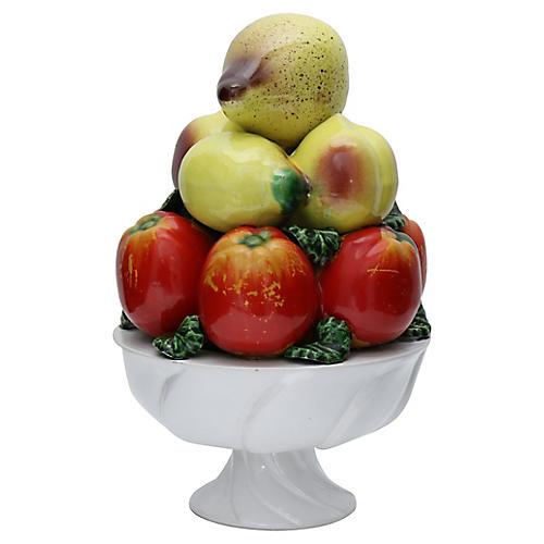 Mid-Century Italian Fruit Trompe L'Oeil