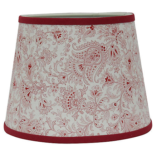 French Vintage Fabric Lampshade