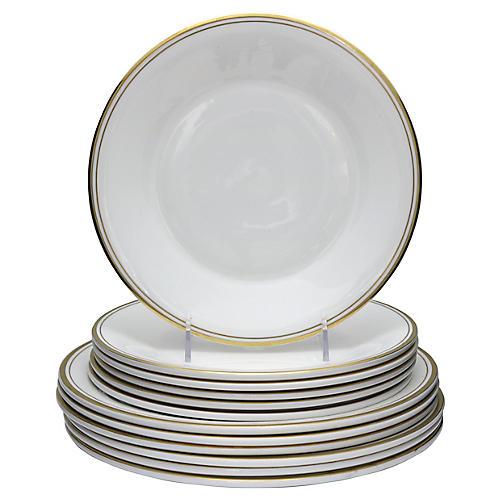 Midcentury Royal Doulton Plates, 12 Pcs