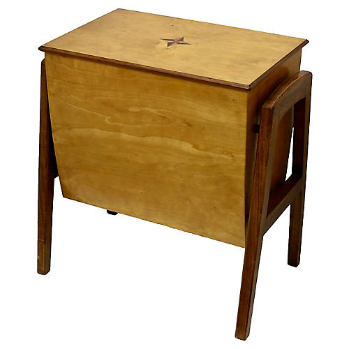 Mid-Century Storage Bench / End Table