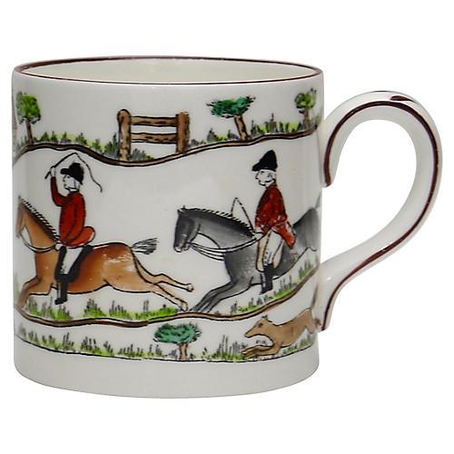 English Hunting Scene Espresso Cup