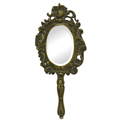 La Belle Époque Bronze Vanity Mirror