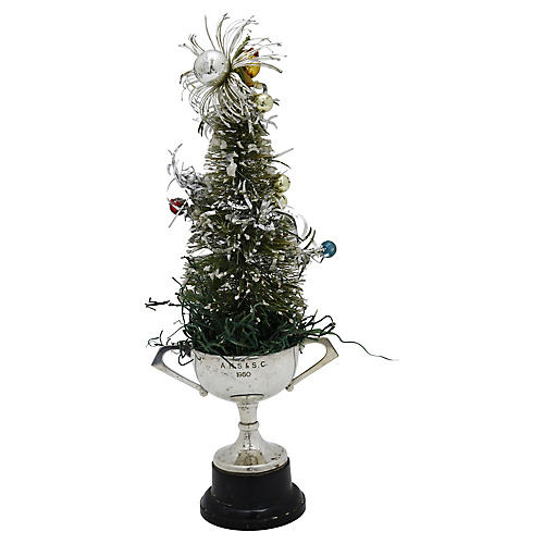 Bottle Brush Tree w/ 1960 Trophy Stand