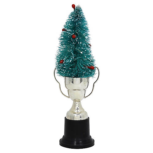 Bottle Brush Tree w/Blank Trophy Stand