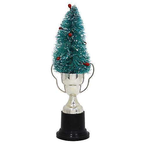 Bottle Brush Tree w/Blank Trophy Stand