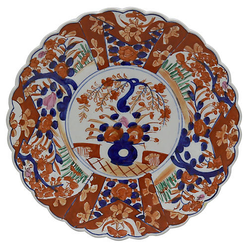 19th-C. Japanese Porcelain Imari Charger