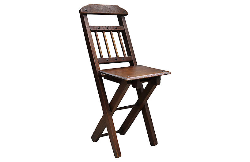 Antique Hand-Made Folding Child's Chair