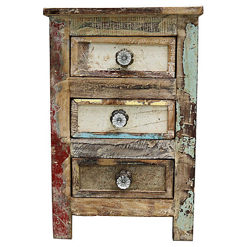 Antique French Rustic Chest of Drawers