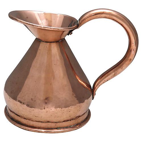 Antique English Copper Pitcher