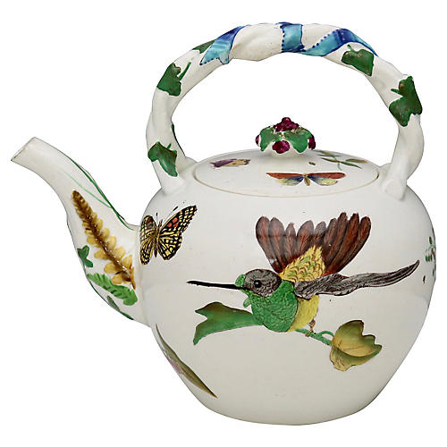 Antique Hand-Painted Wedgwood Teapot