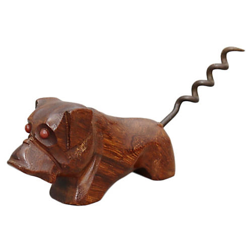 Mid-Century Bull Dog Corkscrew
