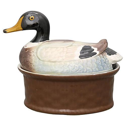 French Duck Baking Tureen