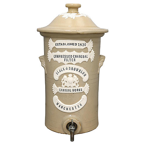 Antique English Small Water Filter