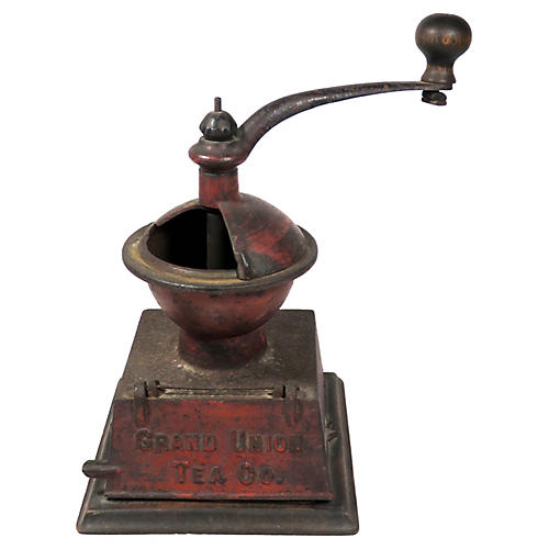 Antique Iron Advertising Coffee Grinder