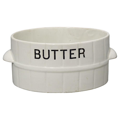 Antique English Ironstone Butter Dish