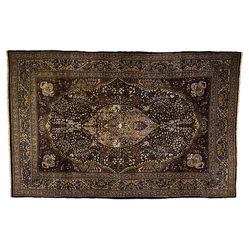 "Pak-Persian Silk Rug, 7'2"" x 4'6"""