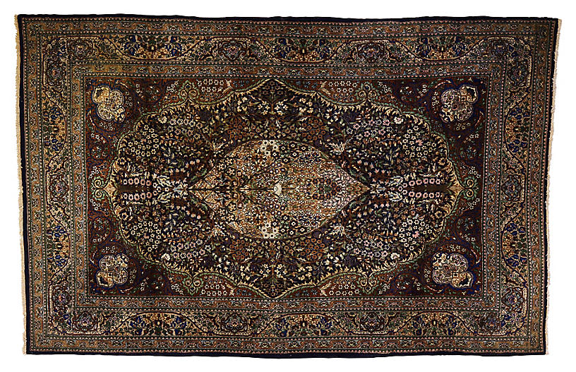 Pak-Persian Silk Rug, 7'2